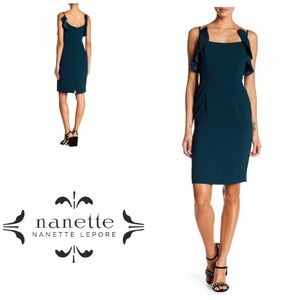🆕NANETTE LEPORE Evergreen Ruffle Midi Dress